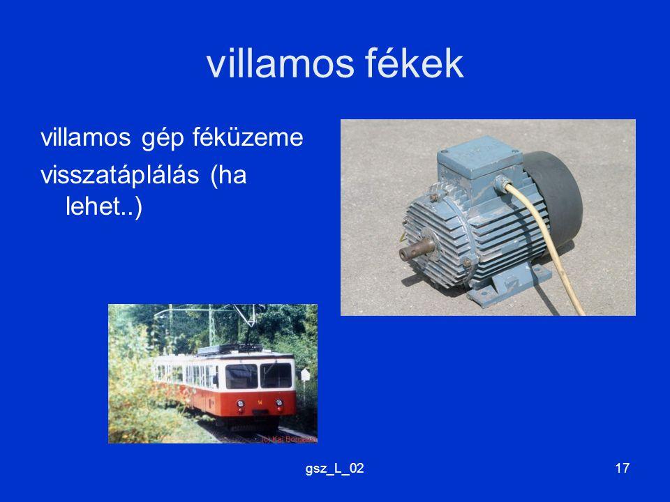 gsz_L_0217 villamos fékek villamos gép féküzeme visszatáplálás (ha lehet..)