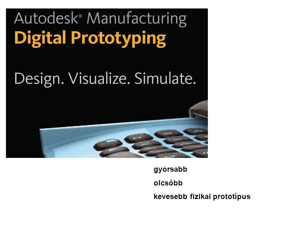 gyorsabb olcsóbb kevesebb fizikai prototípus