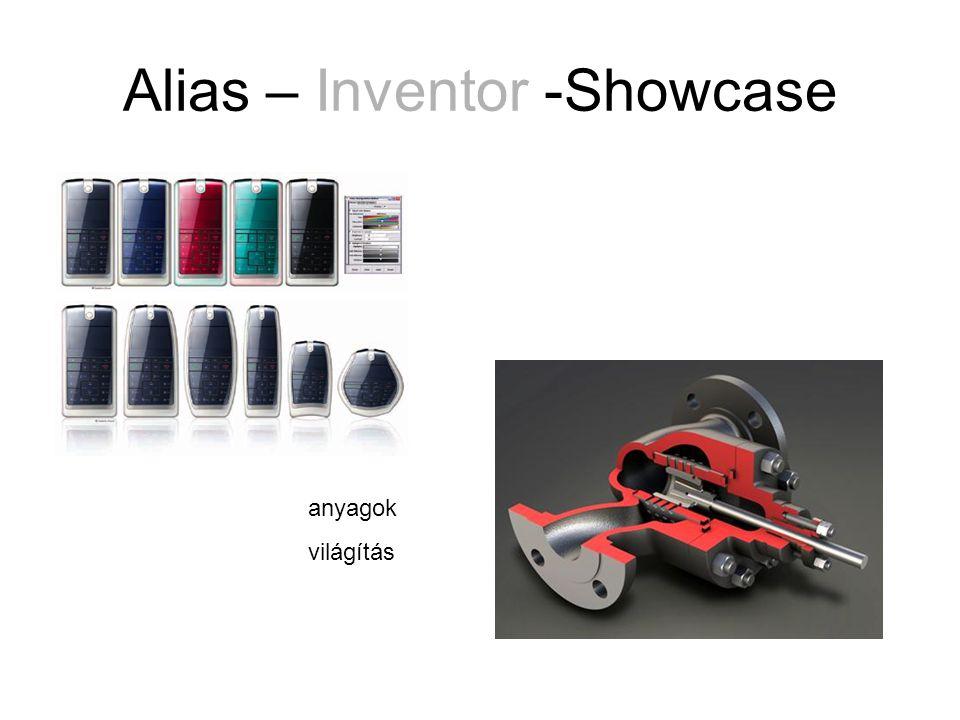 Alias – Inventor -Showcase anyagok világítás