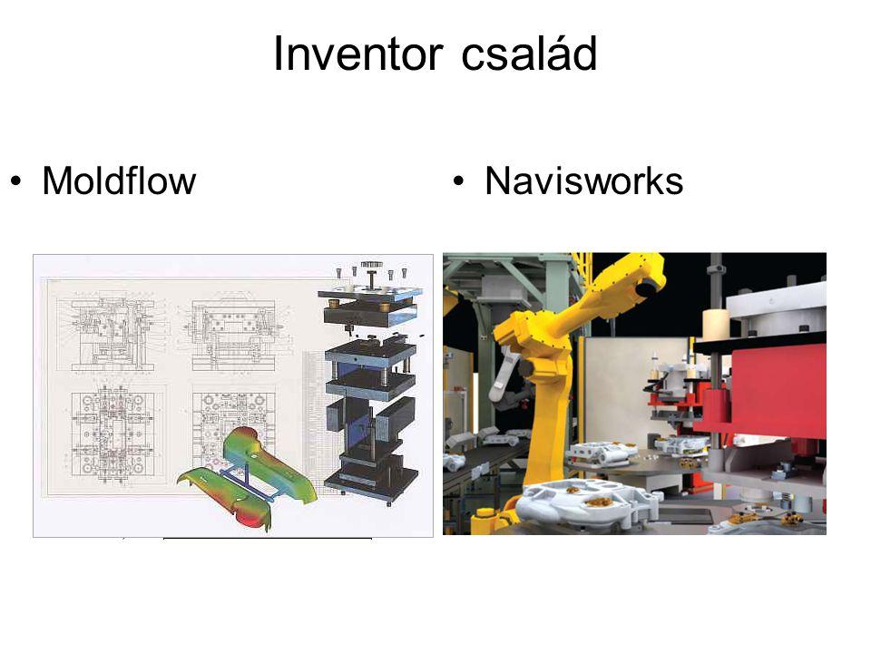 Inventor család NavisworksMoldflow