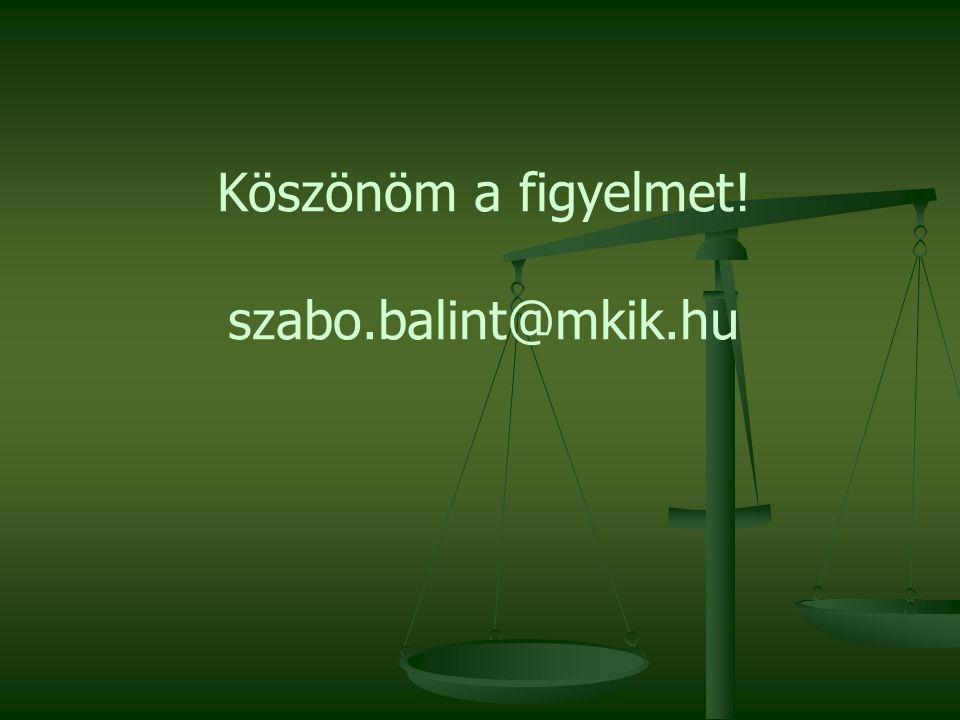 Köszönöm a figyelmet! szabo.balint@mkik.hu