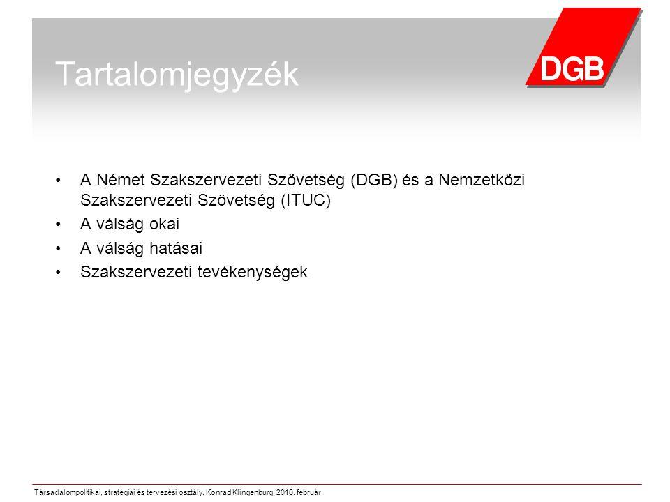 Társadalompolitikai, stratégiai és tervezési osztály, Konrad Klingenburg, 2010.