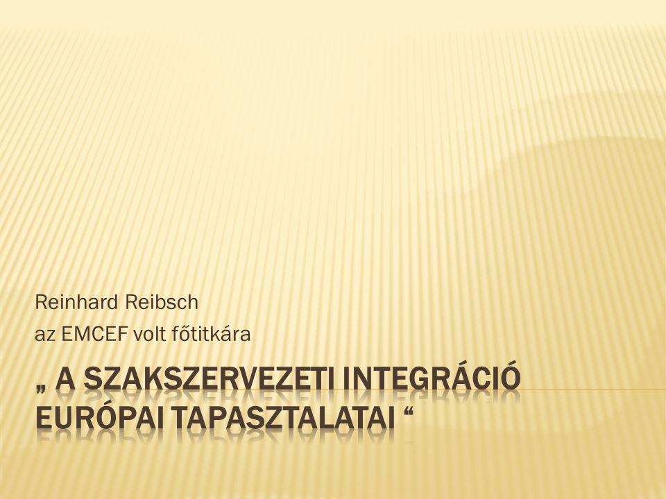 Reinhard Reibsch az EMCEF volt főtitkára