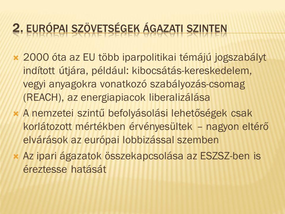  Az európai ágazati szövetségeknek (EIF) eltér a stratégiája, munkamódszere, testületei, megbízatása, döntéshozatali folyamatai és súlypontjai  Fontos elv a konszenzusra törekvés  Eltérő az ágazati kérdések szerepe is, ugyanúgy, mint az esélyegyenlőség kérdései, szociális párbeszéd vagy a tarifa-politika koordinációja  Az EMCEF alapításának tapasztalata megmutatta, hogy több évbe telik, míg egy hatékony integráció sikeresen lezajlik