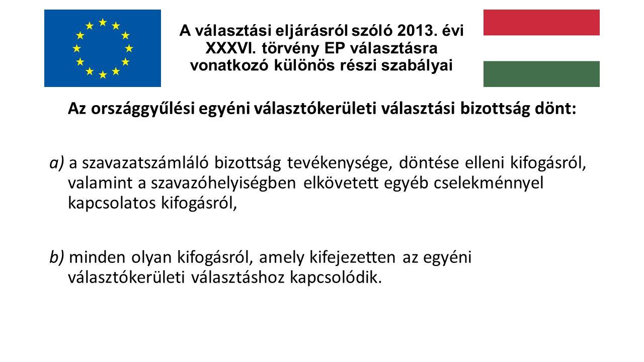 A választási eljárásról szóló 2013.évi XXXVI.