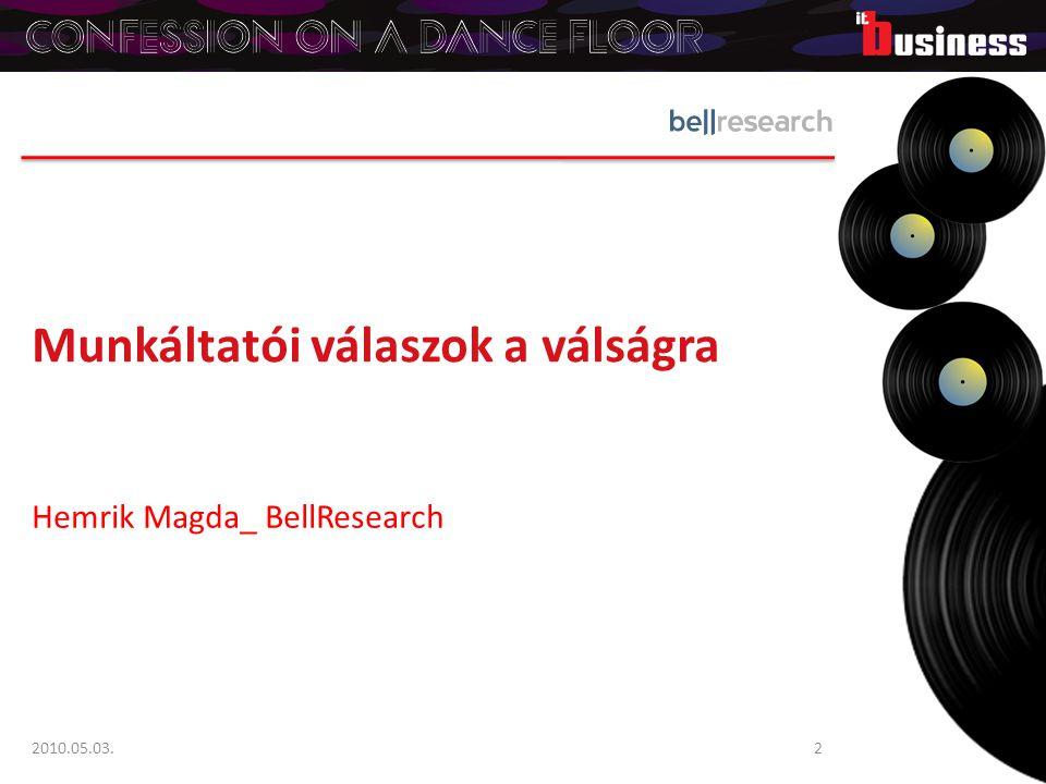 Munkáltatói válaszok a válságra Hemrik Magda_ BellResearch 2010.05.03.2
