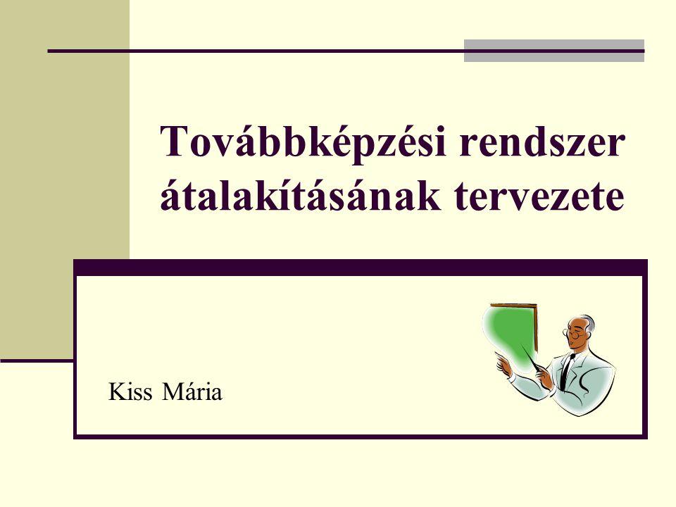 Továbbképzési rendszer átalakításának tervezete Kiss Mária