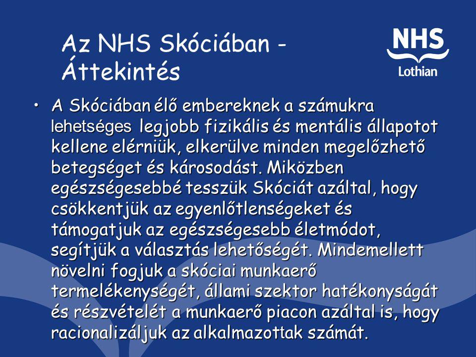Az NHS Skóciában - Áttekintés A Skóciában élő embereknek a számukra lehetséges legjobb fizikális és mentális állapotot kellene elérniük, elkerülve minden megelőzhető betegséget és károsodást.