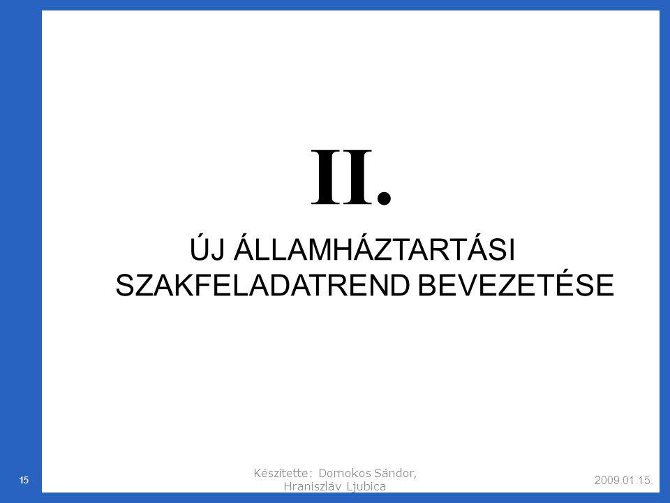 2009.01.15.Készítette: Domokos Sándor, Hraniszláv Ljubica 15 II.