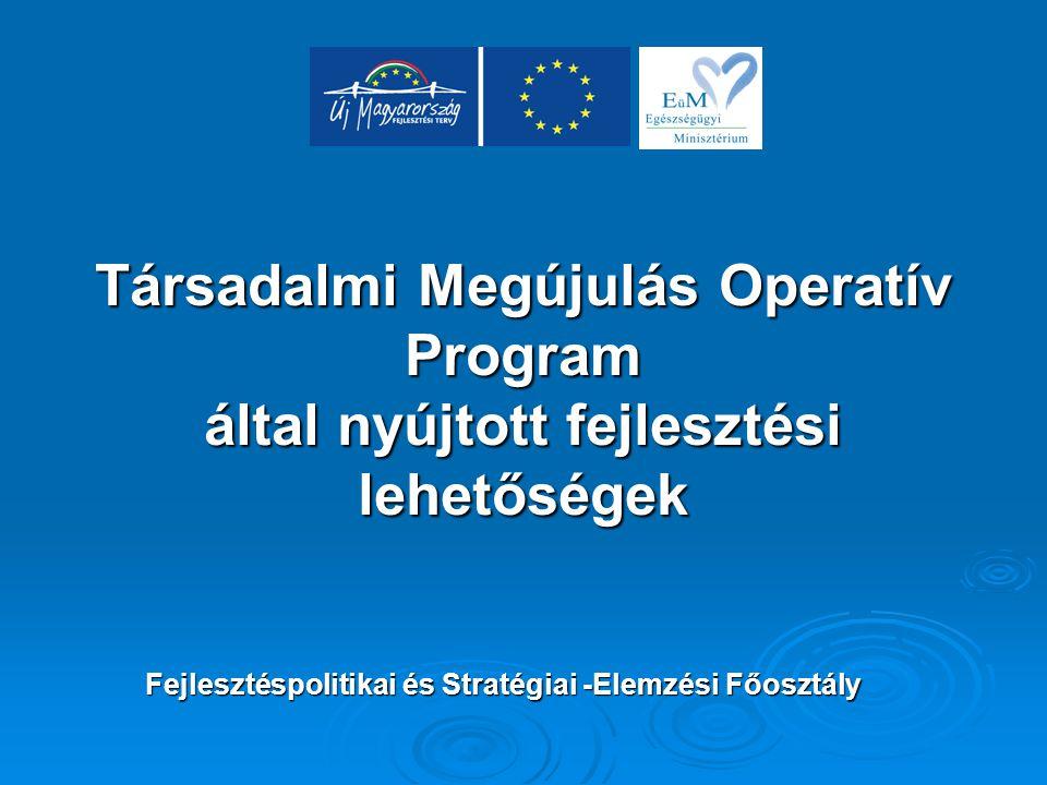 Társadalmi Megújulás Operatív Program által nyújtott fejlesztési lehetőségek Fejlesztéspolitikai és Stratégiai -Elemzési Főosztály