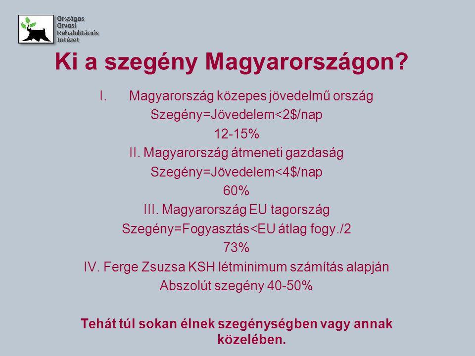 Ki a szegény Magyarországon.