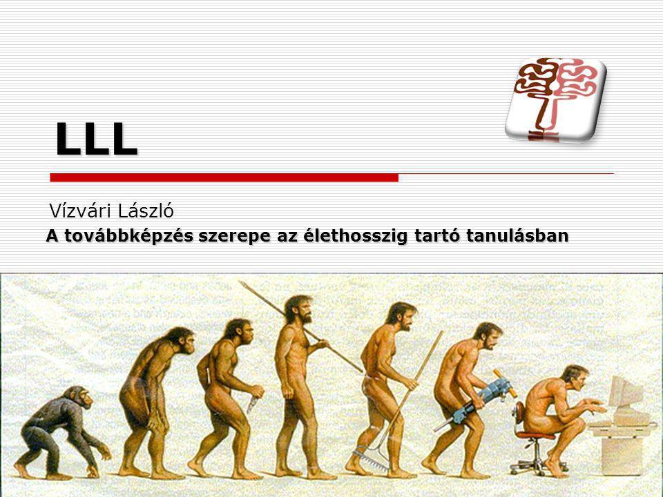 A továbbképzés szerepe az élethosszig tartó tanulásban Vízvári László LLL