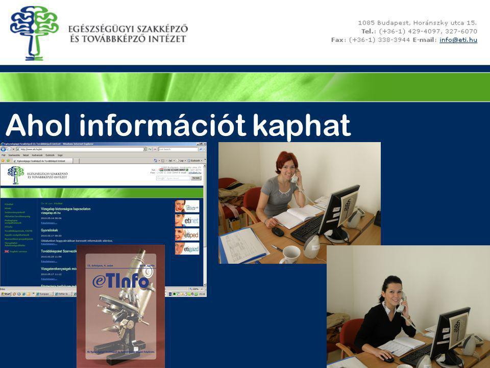 Ahol információt kaphat