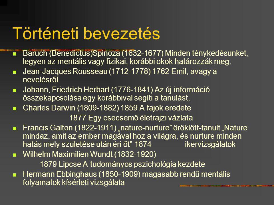 """Történeti bevezetés """"A pszichológiának hosszú múltja, de rövid története van."""" Ebbinghaus Szókratész (i.e. 469-399) Az erkölcs nem tanítható meg az eg"""