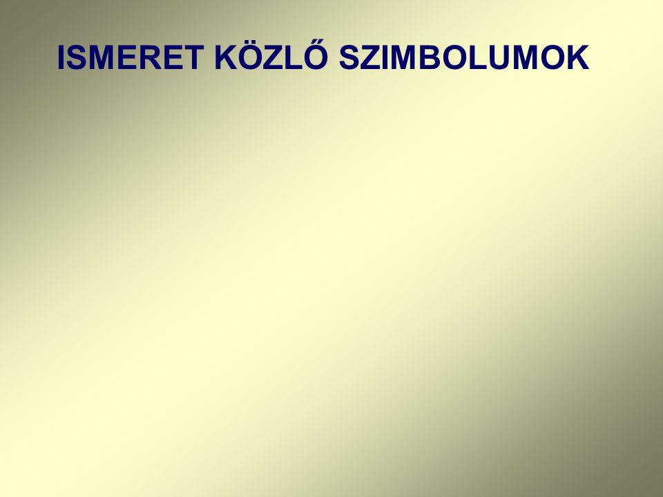 ISMERET KÖZLŐ SZIMBOLUMOK