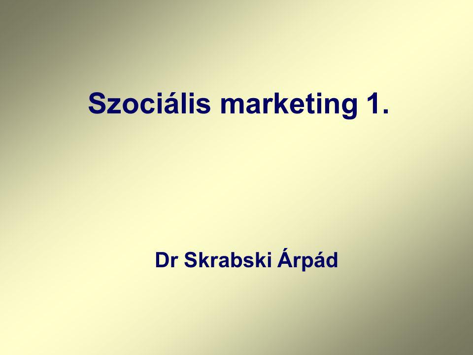Szociális marketing 1. Dr Skrabski Árpád