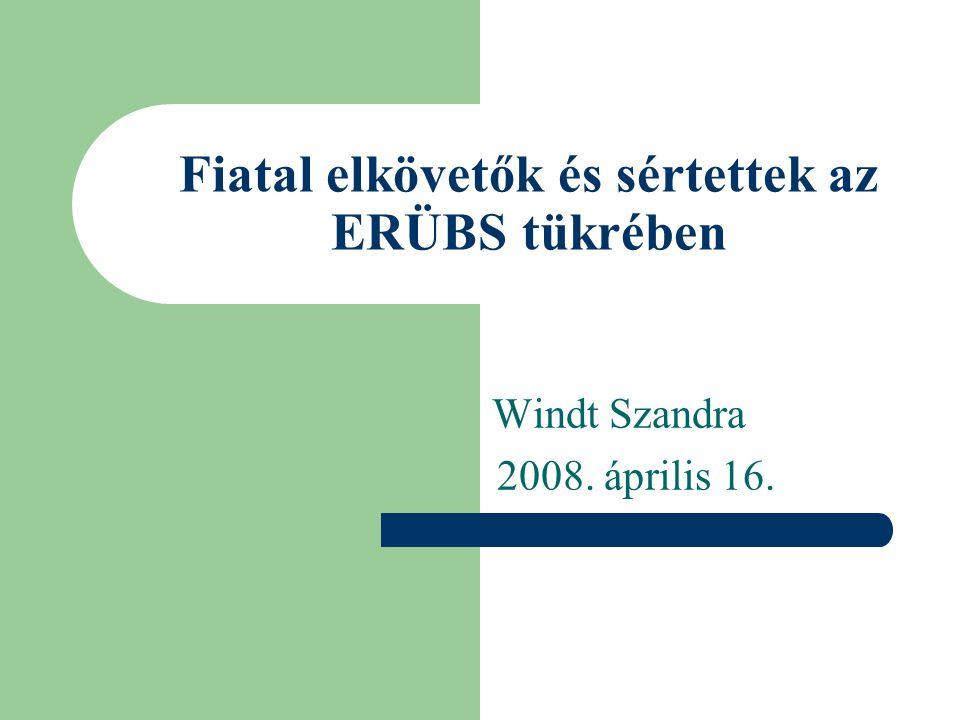 Fiatal elkövetők és sértettek az ERÜBS tükrében Windt Szandra 2008. április 16.