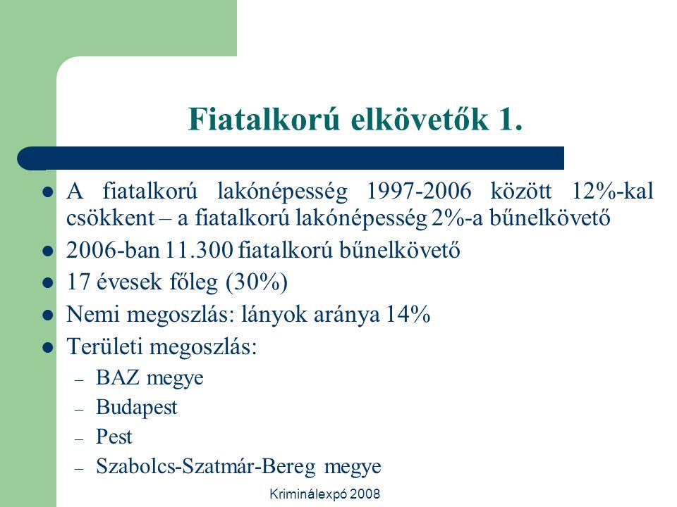 Kriminálexpó 2008 Fiatalkorú elkövetők 1.