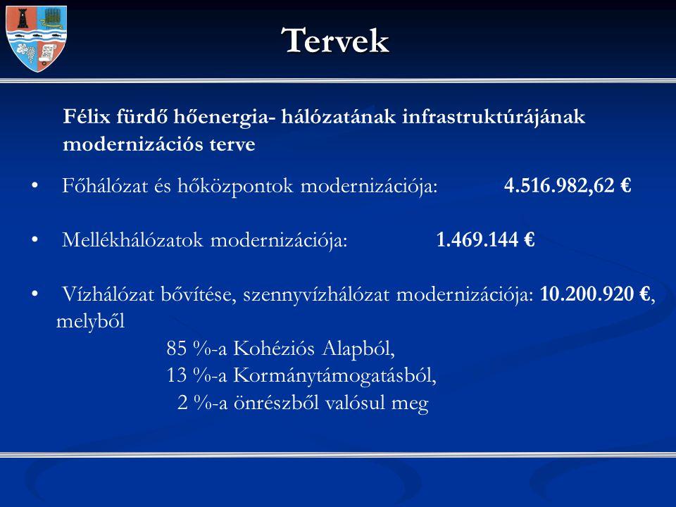 Ivóvíz, szennyvízhálózat és hidak modernizációja SAPARD – 9 projekt 8,29 millió € értékben megvalósult 687/1997 és 1036/2004 számú Kormányrendeletek révén: 15 projekt 8.859.276 USD értékben megvalósult, 3 projekt 1.626.283 USD értékben folyamatban 577/1997 számú Kormányrendelet alapján 9 projekt 1.414.190 RON értékben megvalósult, 7 projekt 11.992.180 RON értékben folyamatban, további 6 projekt előkészítési fázisban 7/ 2006-os számú Kormányrendelet alapján 71 igénylés – a kiviteli tervekre a kormány a tavalyi évben átutalt 6.862.000 RON-t 379/2007 –es számú Kormánrendelet alapján 29 projekt 12.850.000 RON értékben
