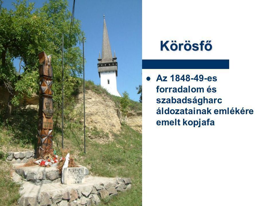 Körösfő Az 1848-49-es forradalom és szabadságharc áldozatainak emlékére emelt kopjafa