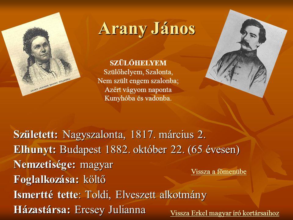 Petőfi Sándor Születési név:Petrovics Sándor Született: Magyarország, Kiskőrös 1823. január 1. Elhunyt: Magyarország, Segesvár 1849. július 31. 26 éve
