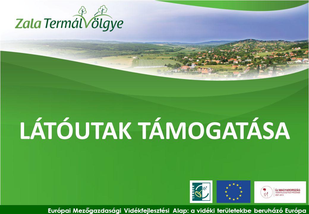LÁTÓUTAK TÁMOGATÁSA Európai Mezőgazdasági Vidékfejlesztési Alap: a vidéki területekbe beruházó Európa