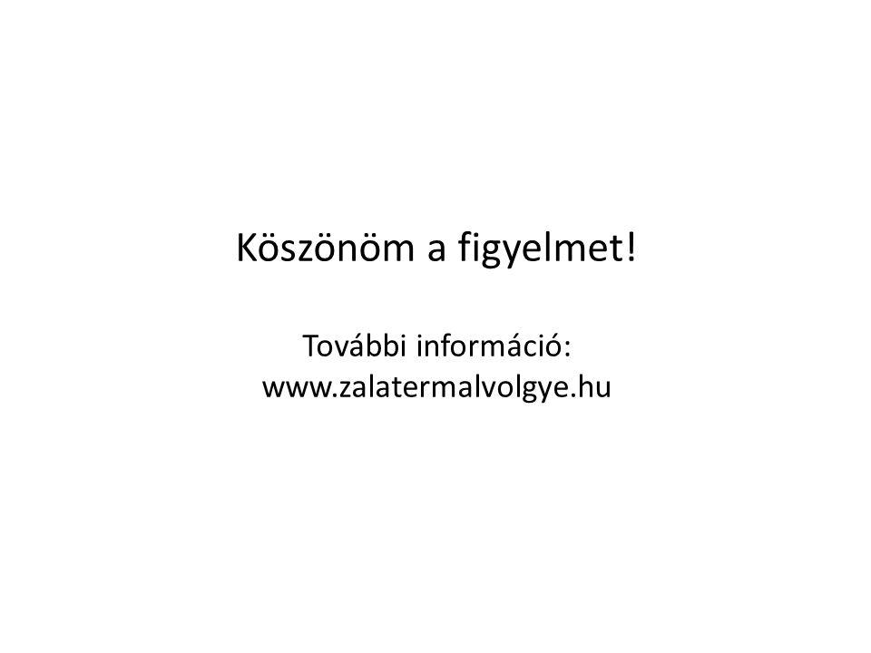 Köszönöm a figyelmet! További információ: www.zalatermalvolgye.hu