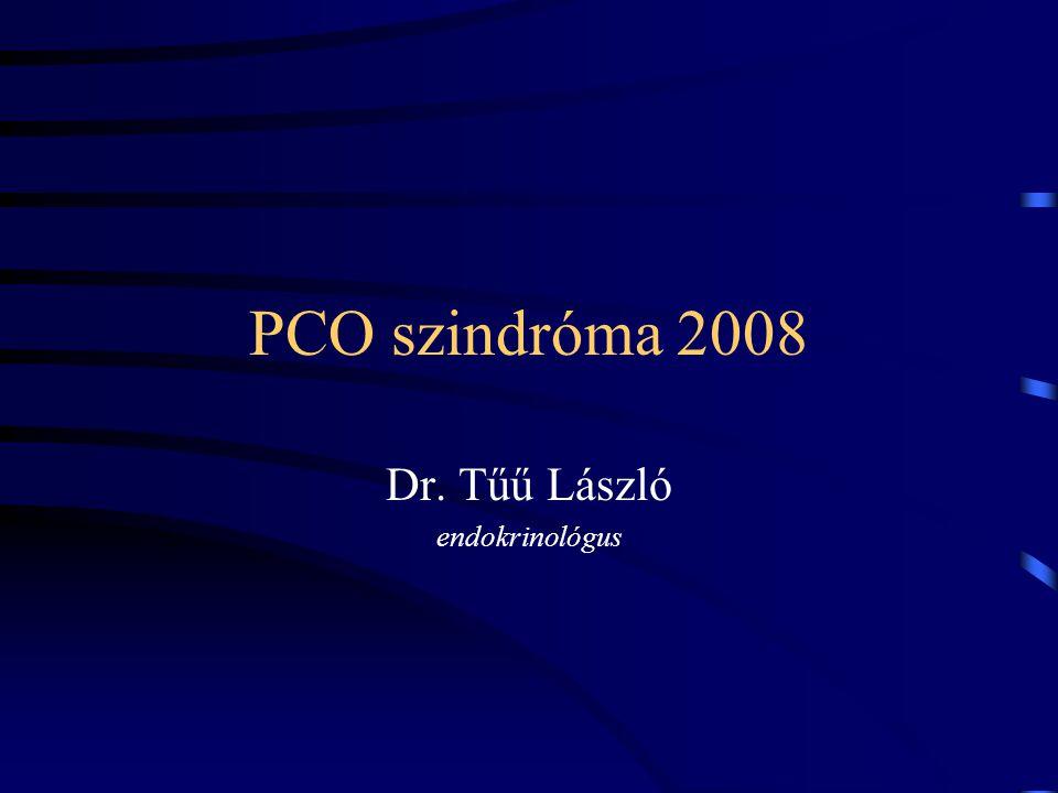 PCO szindróma 2008 Cisztás petefészek szindróma, régebben: Stein-Leventhal szindróma.