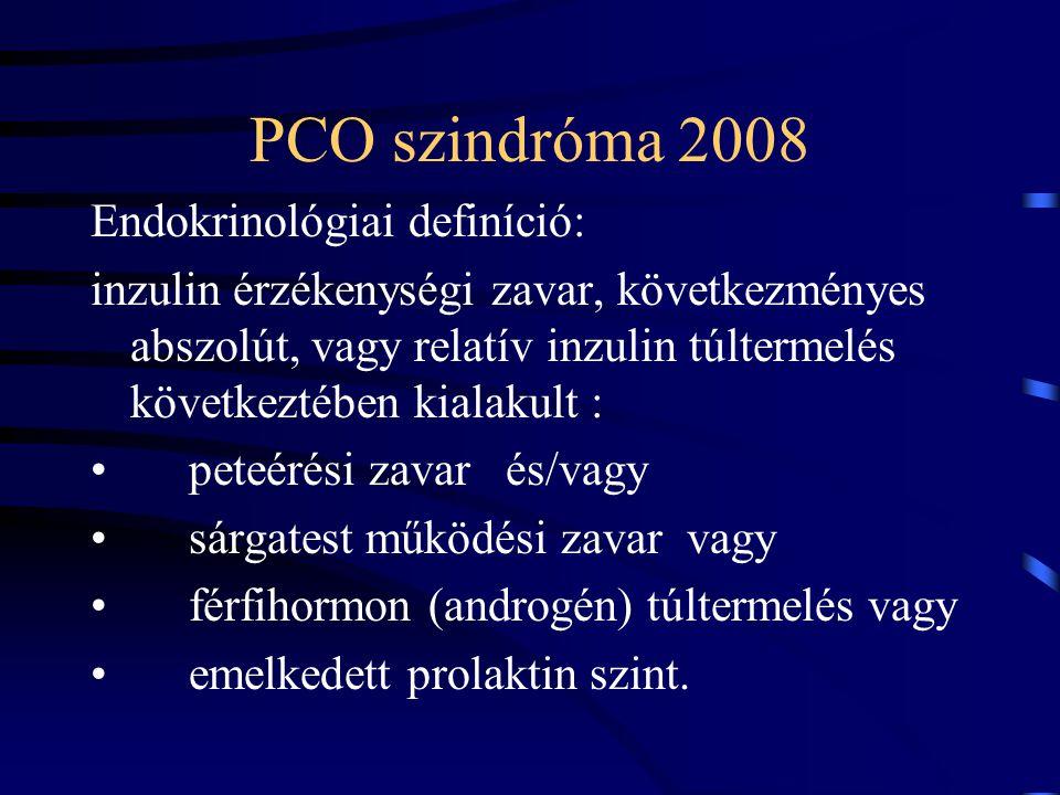 Metformin kezelés: eredményesség 1 61 PCO szindrómás beteg 26 beteg placébót kapott 1 ovuláció 35 beteg kapott metformint 1500 mg/nap adagban14 ovuláció