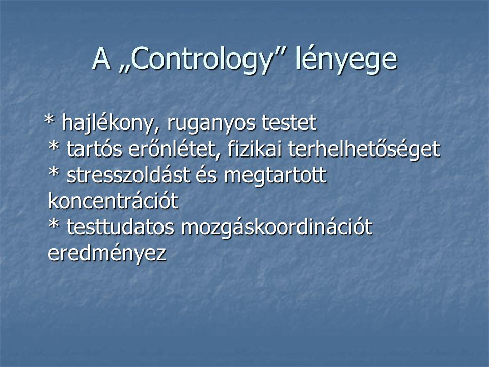 """A """"Contrology lényege * hajlékony, ruganyos testet * tartós erőnlétet, fizikai terhelhetőséget * stresszoldást és megtartott koncentrációt * testtudatos mozgáskoordinációt eredményez * hajlékony, ruganyos testet * tartós erőnlétet, fizikai terhelhetőséget * stresszoldást és megtartott koncentrációt * testtudatos mozgáskoordinációt eredményez"""