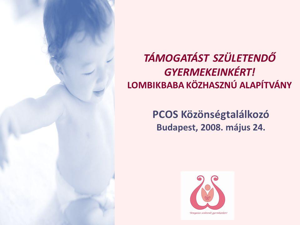 © Támogatást Születendő Gyermekeinkért! LOMBIKBABA KÖZHASZNÚ ALAPÍTVÁNY MEDDŐSÉGI HELYZETKÖRKÉP