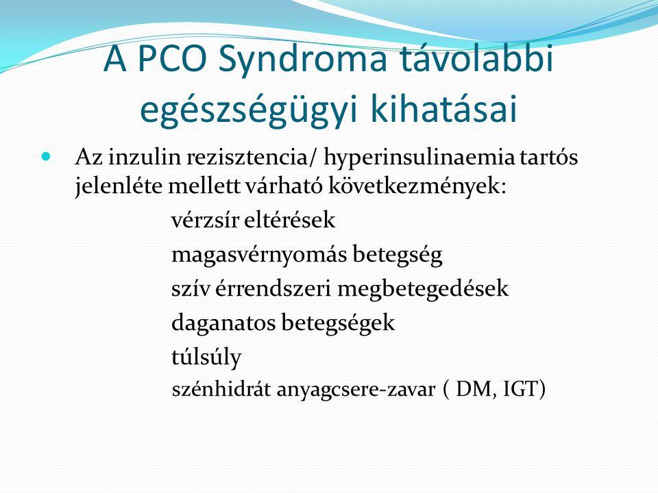 A PCO Syndroma távolabbi egészségügyi kihatásai Az inzulin rezisztencia/ hyperinsulinaemia tartós jelenléte mellett várható következmények: vérzsír el