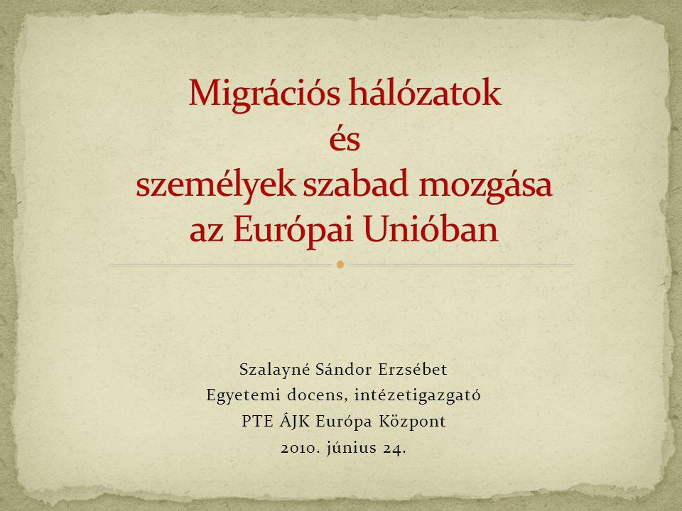 Szalayné Sándor Erzsébet Egyetemi docens, intézetigazgató PTE ÁJK Európa Központ 2010. június 24.