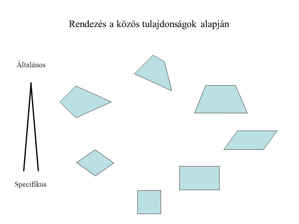 Objektum tulajdonság A generikus reláció tulajdonságai A B a 1, a 2,.....a n (a 1, a 2,.....a n )+b 1,...