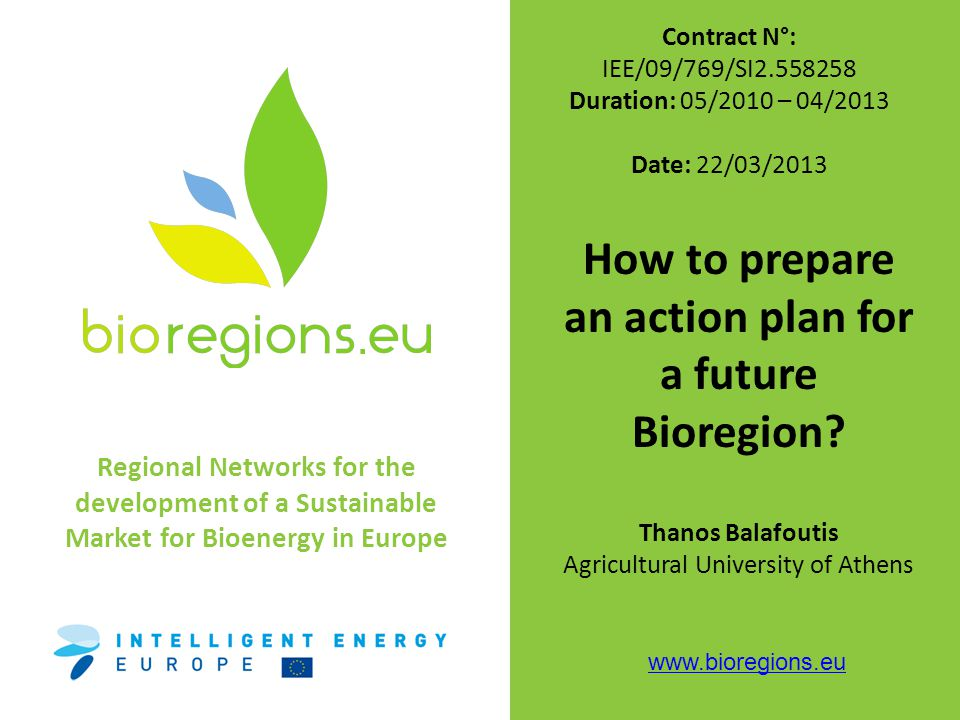 This part is related to general (qualitative) targets and objectives Production and use of biomass resources Bio-energy technologies Bio-energy generation and use Overall bioenergy vision Általános Bioenergia víziók Switching from traditional use of biomass to a modern one – Upgrading the traditional burning of biomass through the integration of new biofuels and technology with high COP Efficient use of available biomass secure supply of biomass in the region will lead to the creation of new employment opportunities.