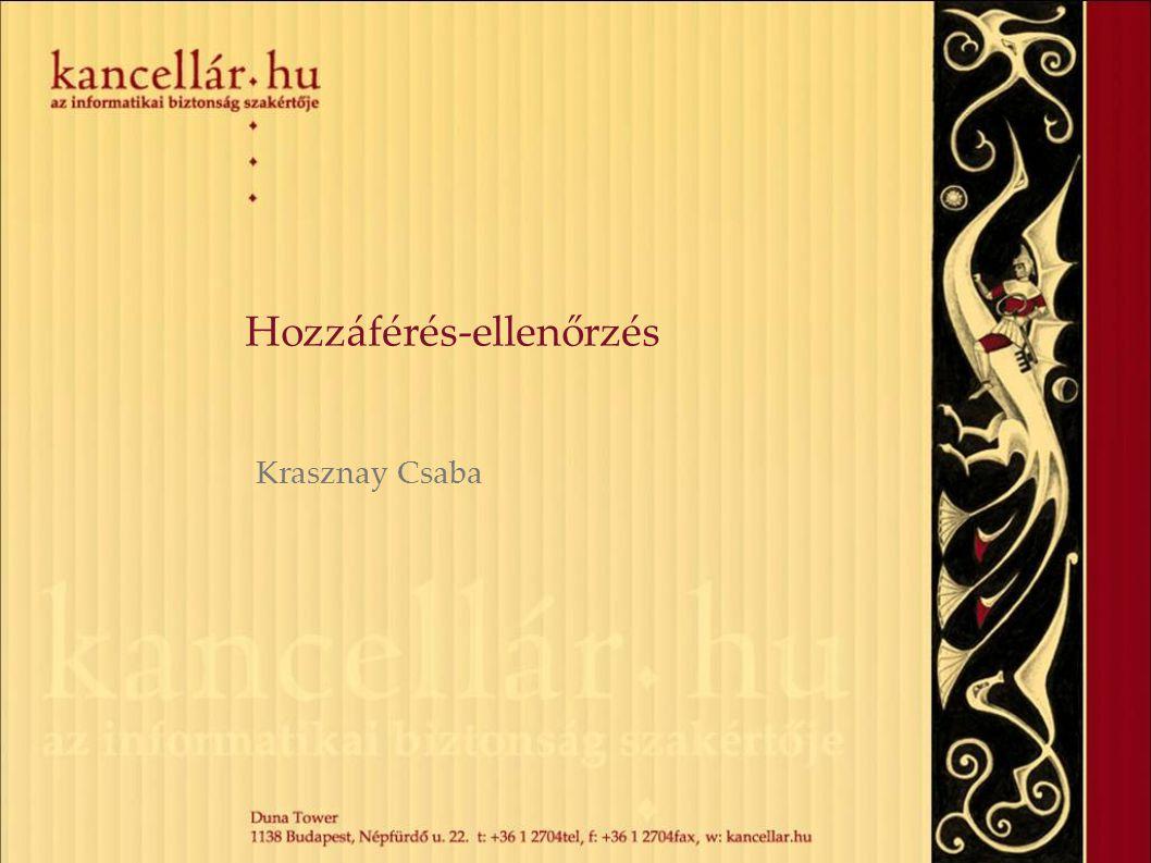 Hozzáférés-ellenőrzés Krasznay Csaba