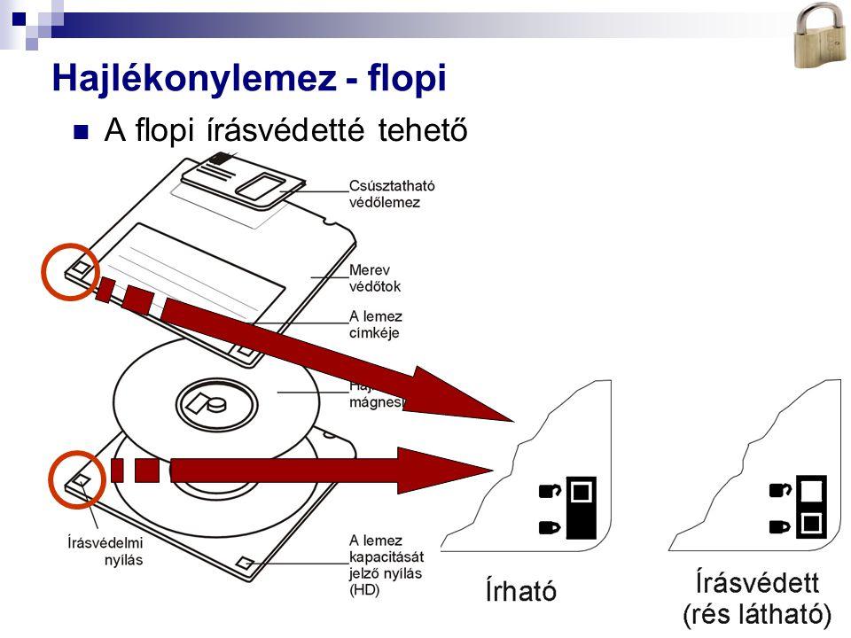 Bóta Laca Hajlékonylemez - flopi A flopi írásvédetté tehető