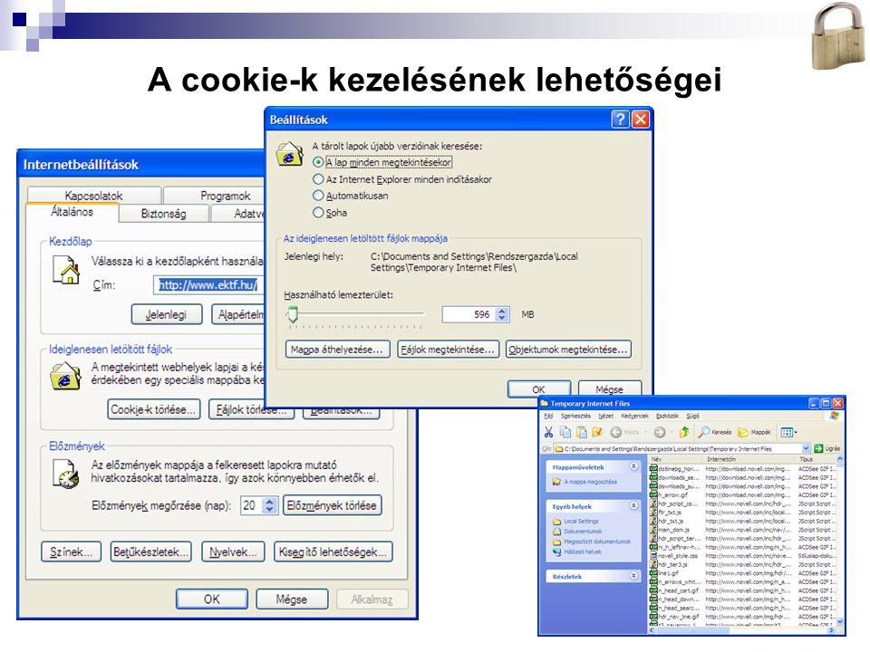 Bóta Laca A cookie-k kezelésének lehetőségei