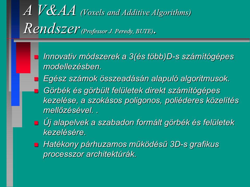 Felületek és testek a V&AA rend- szerben.A kisérleti rendszer főbb jellemzői.