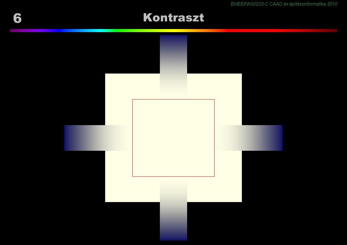 BMEEPAG0233-C CAAD és építészinformatika 2010 37 Következtetés Kanizsa illúzió, 1976 a szubjektív kontúr takarásra vagy átlátszóságra alapított következtetés eredménye.