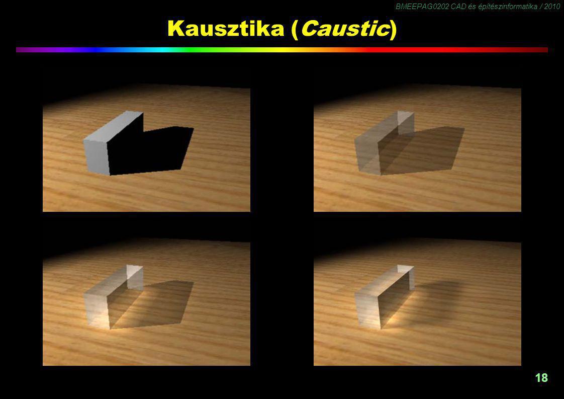BMEEPAG0202 CAD és építészinformatika / 2010 18 Kausztika (Caustic)