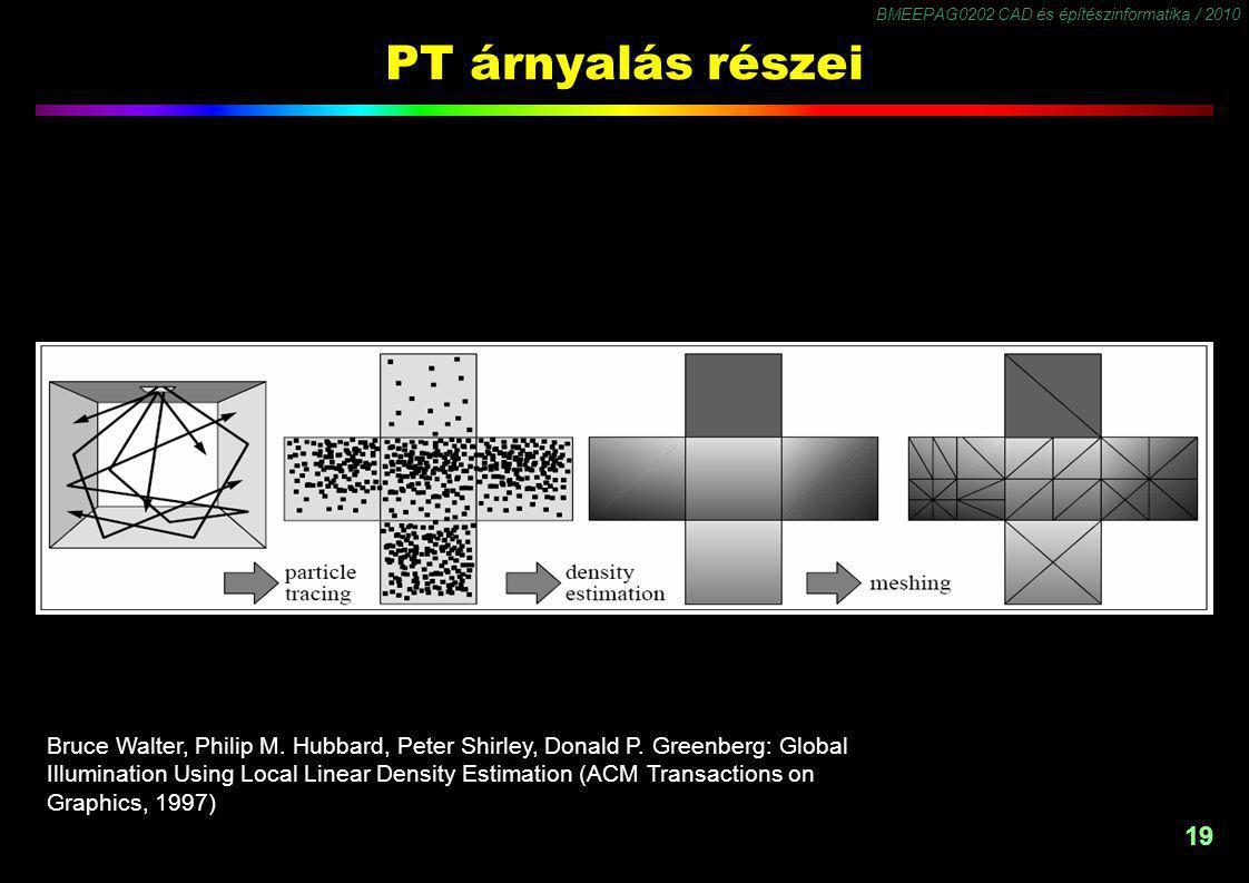 BMEEPAG0202 CAD és építészinformatika / 2010 19 PT árnyalás részei Bruce Walter, Philip M.