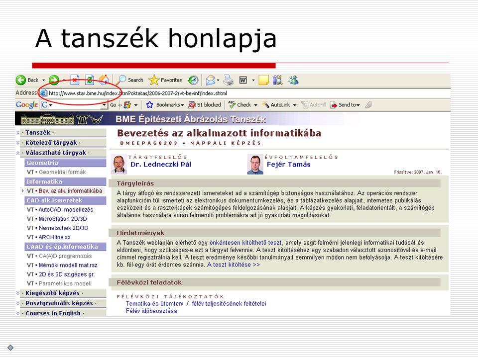 Egyetemi szerverek szerver neve:LECHNERURAL2 internet hostnév:lechner.abr.bme.huural2.hszk.bme.hu op.