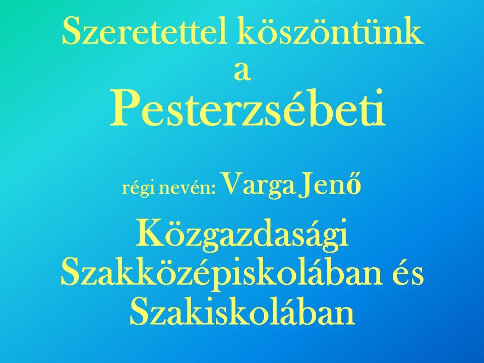 Szeretettel köszöntünk a Pesterzsébeti régi nevén: Varga Jen ő Közgazdasági Szakközépiskolában és Szakiskolában