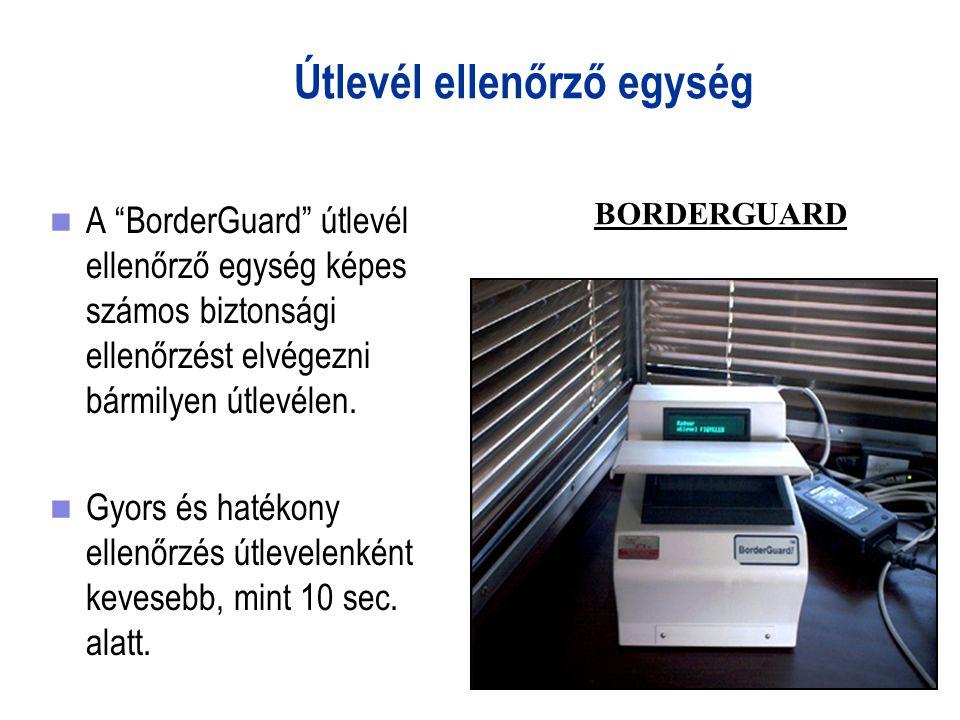 Útlevél ellenőrző egység A BorderGuard útlevél ellenőrző egység képes számos biztonsági ellenőrzést elvégezni bármilyen útlevélen.