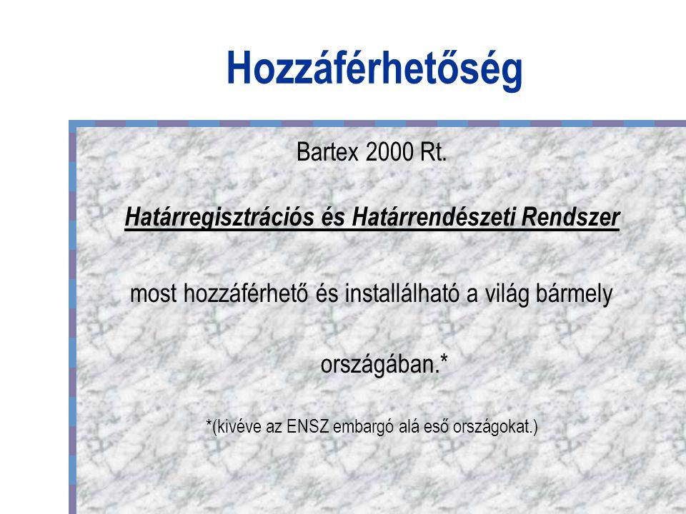 Hozzáférhetőség Bartex 2000 Rt.