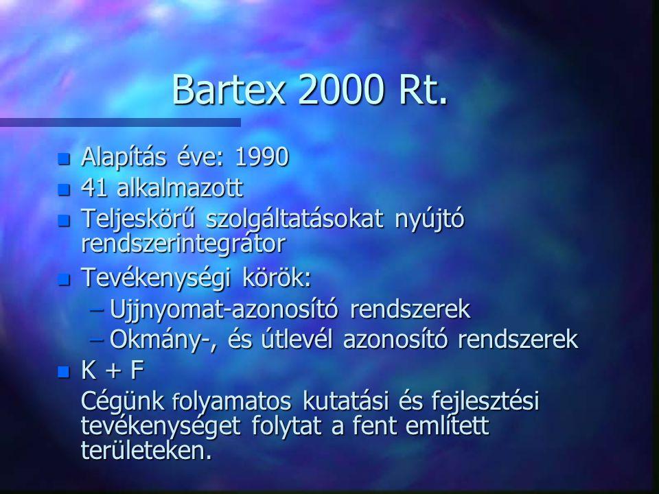 Bartex AFIS 2000 Megengedhető áron - egészen mostanáig a költségek nagysága korlátozta e technológia bevezetését.