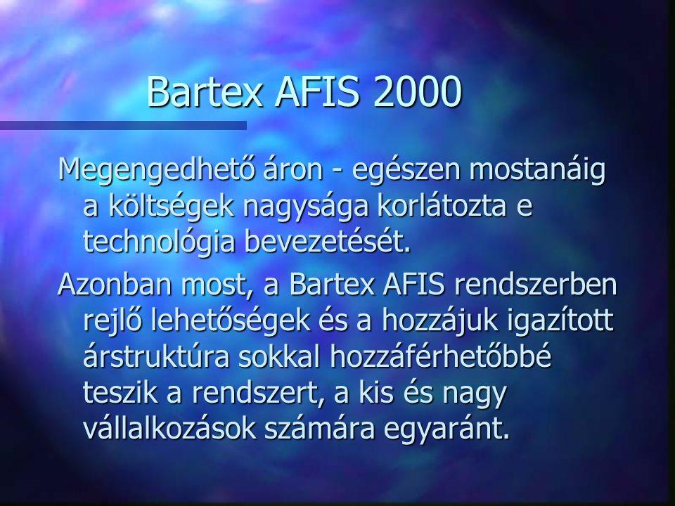 Bartex AFIS 2000 Megengedhető áron - egészen mostanáig a költségek nagysága korlátozta e technológia bevezetését. Azonban most, a Bartex AFIS rendszer