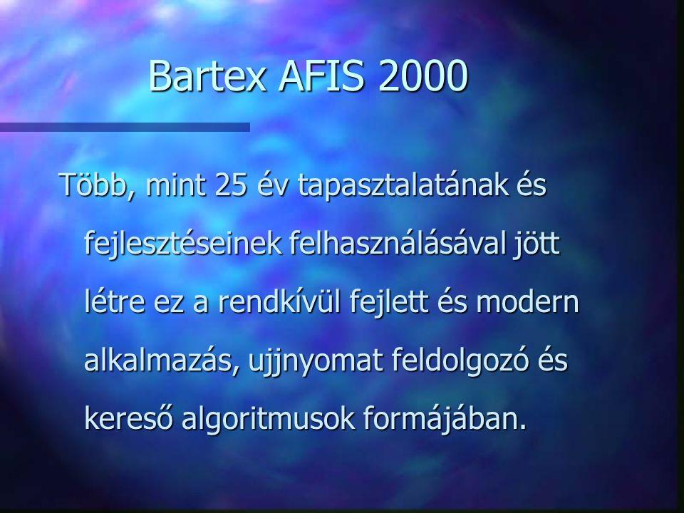 BARTEX AFIS minta konfiguráció