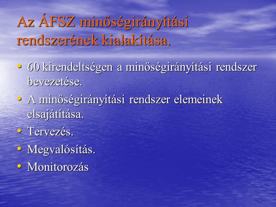 Az ÁFSZ minőségirányítási rendszerének kialakítása.